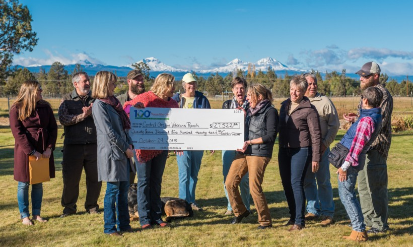 Central Oregon Veteran's Ranch Receives Check for $27, 522