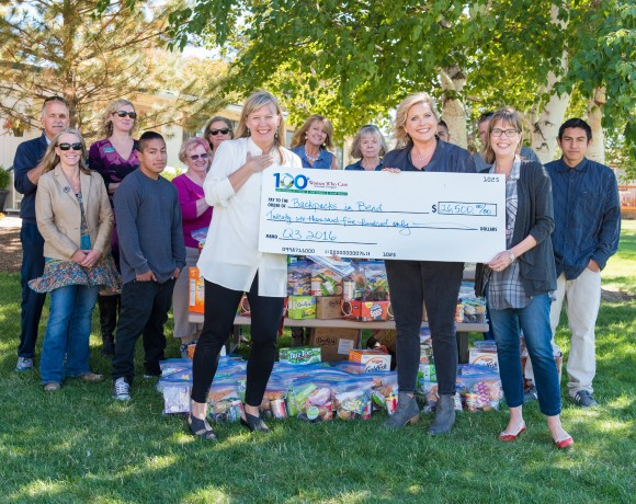 Backpacks in Bend starts the school year with a check for $26,500!