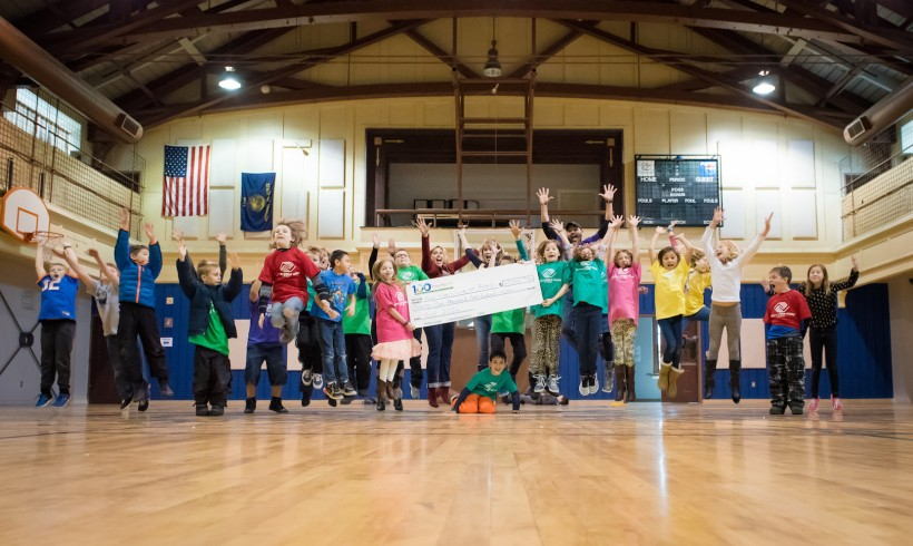 The Boys & Girls Club jumps for joy while receiving $25,300!
