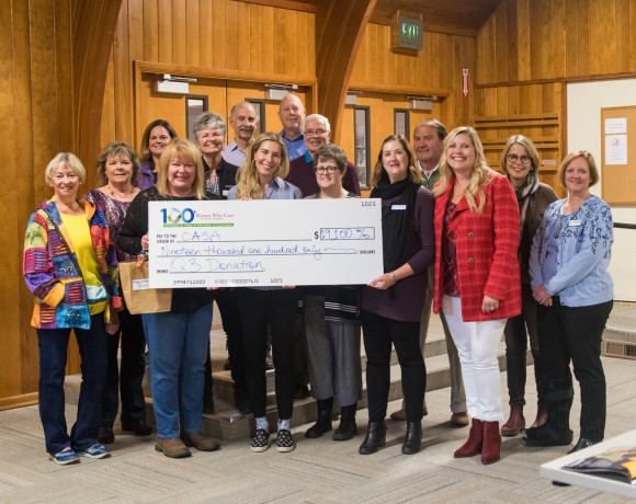 CASA  of Central Oregon receives a check for $19,100