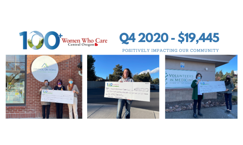 $20,000 donated Q4 2020: Council on Aging, High Desert Special Olympics, and Volunteers in Medicine