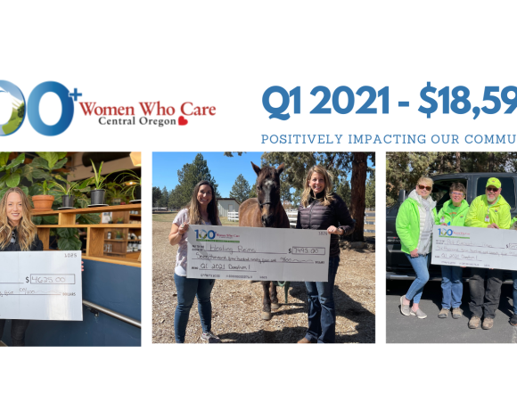 $18,595 donated Q1 2021: Healing Reins, Pet Evacuation Team, and Guardian Group